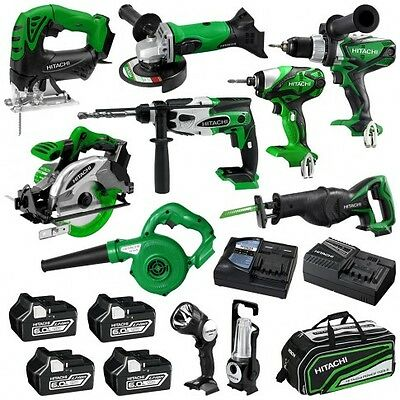 Hitachi 10 Piece 18V 6.0Ah Slide Combo Kit - MPS18(HA)