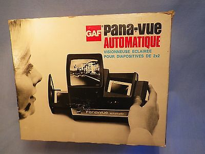Gaf Pana-Vue Automatic Slide Viewer Vintage with Box