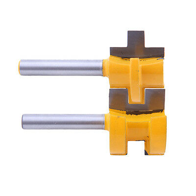 """2pcs/Set Tongue Groove Router Bit 3/4"""" Stock 1/4"""" Shank For Woodworking Tools"""