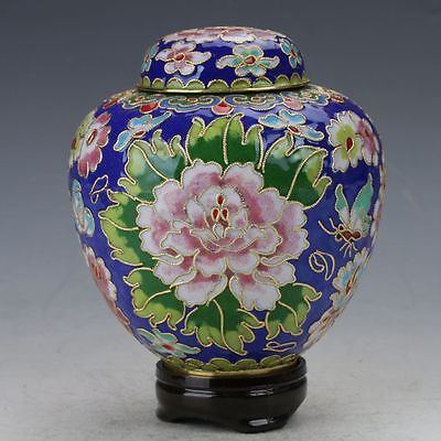 Chinese Cloisonne copper Hand-painted Flower  Pot B655