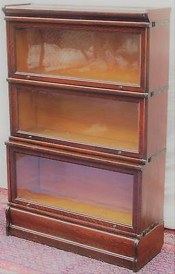 "Macey Oak Barrister Bookcase With Extra Large D 12 1/4"" Base"