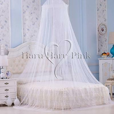 UK bed canopy Mosquito Net Fly Insect Protection Bed Outdoor Curtain Dome WHITE