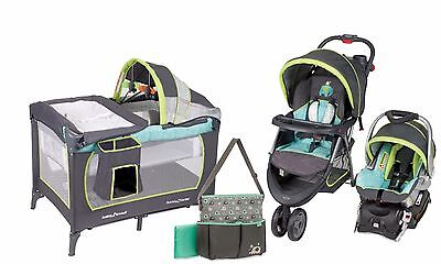 Baby Stroller Car Seat  Infant Toddler Playard Crib Travel System Combo Set New