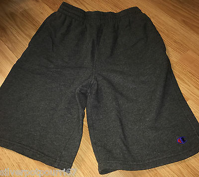 Boys Gray Fleece Athletic Shorts from Champion Size L 14-16