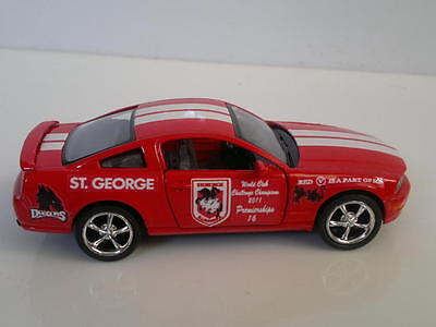 St George Illawarra Dragons Ford Mustang Code 3 1/43 Car