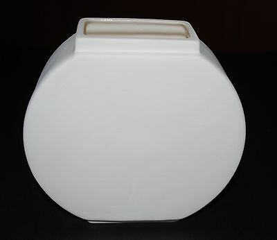 Ceramic Vase White - 15 x 15 x 5cms - Suitable for Painting or Decoupage Project