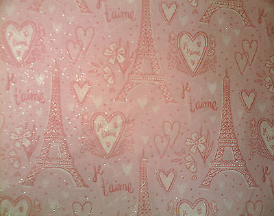 Love Paris on Pretty Pink Sparkle Stethoscope Cover - NEW - Handmade - FREE S&H