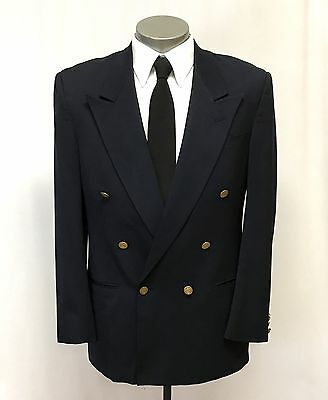 mens navy blue CHRISTIAN DIOR blazer jacket double breasted sport suit coat 42 L