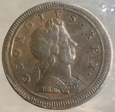 1719 Great Britain 1/2 Penny EF40