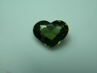 rare GREEN Kornerupine FANCY HEART cut gem Tanzania natural Fine gemstone
