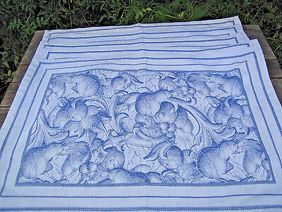 Williams Sonoma Made in Italy Blue Delft Fabric Placemats 6 count (1 discolored)