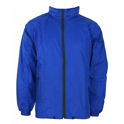 Waterproof spray Jacket ZIp Windcheater STOLITE EXPLORER  Mens 3XL- Royal Blue
