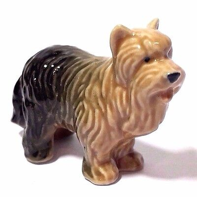 Miniature Yorkshire Terrier Statue Ceramic Dog Figurine Collectibles Decor