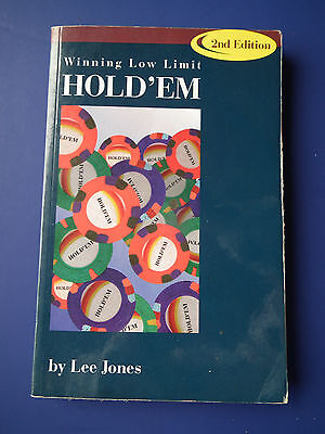 Texas Holdem How to Play Poker Book Winning Low Limit Lee Jones 2nd Edition