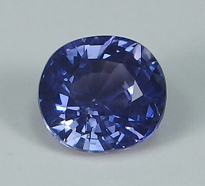 GIA Certified Unheated Natural Sapphire Ceylon Violetish Blue Cushion 1.22 ct