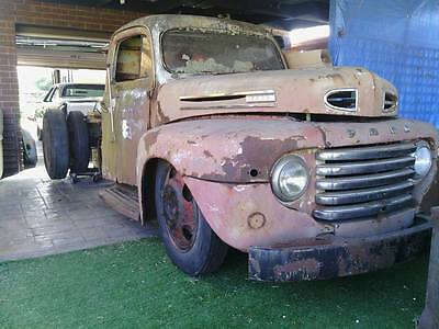 Ford 48 short bed dual wheel rolling chassis with cab/panels rat rod yard art