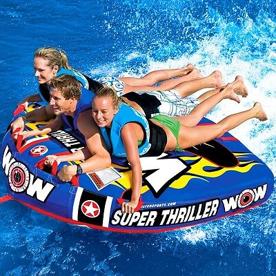 "WoW Super Thriller 75 x 62"" 3 Person Ski Tube"