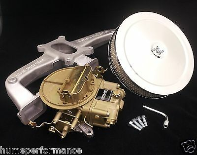 Holden 6 Cylinder Intake Package Reco 350 Holley 7448 & Manifold New Air Cleaner