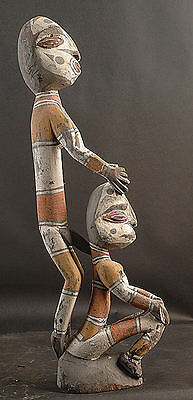 Very Sexual Figure Of A Man And Women  Middle Sepik River  Papua New Guinea