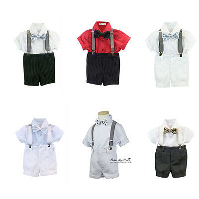 BNWT  4Pcs Formal Baby Toddler Children Boy Kid Short Suit Outfits size 000-6