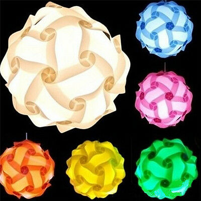 New Colorful DIY Jigsaw Puzzle IQ Lamp Light Ceiling Lampshade Home Room Decor