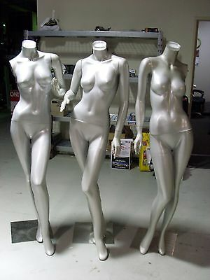 Female Body Mannequins Clothing Display 163cm x 3 (qty 3)