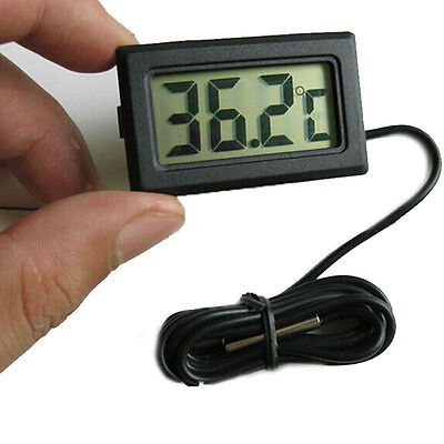 Mini LCD Digital Temperature Meter Thermometer Outdoor Fridge Meter Probe Tester