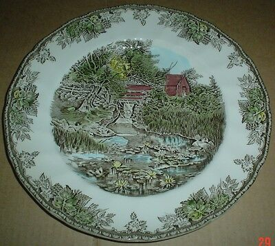 Johnson Brothers THE LILY POND Dinner Plate THE FRIENDLY VILLAGE