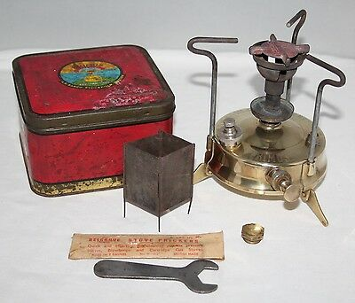 AB Bahco, Sweden - No. 96 Brass Primus Stove - Complete in Tin - c1937