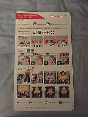 Austrian Airlines Boeing 777 Safety Card