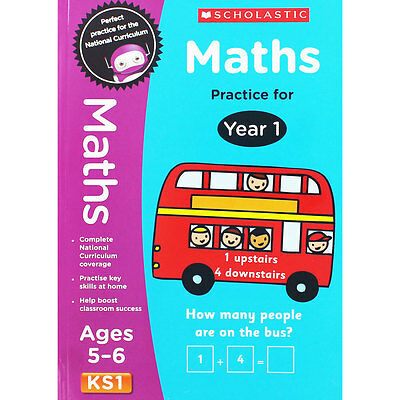 Maths Practice For Year 1 - Key Stage 1 (Paperback), Children's Books, Brand New