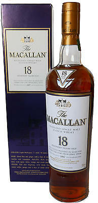 The Macallan 18 Jahre, Sherry Oak Single Malt Whisky, 0.7 Liter, 43%