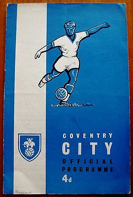 Coventry City v Newport County 1961/62 Div. 3 programme.