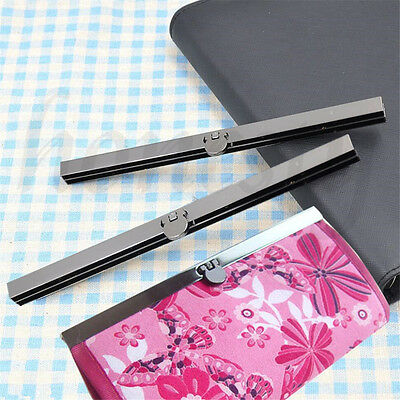1pc Purse Wallet Frame Bar Edge Strip Clasp 19cm Metal Openable Edge Replacement