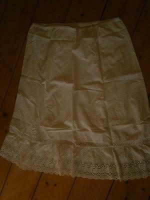 Vintage/Retro cotton embroidered broderie anglaise cotton half slip