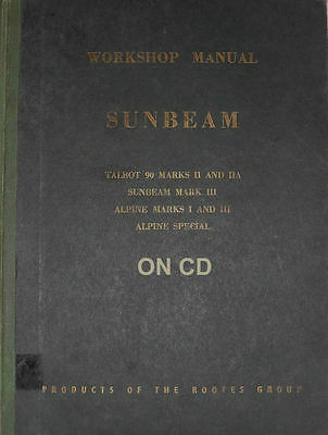 1956 Sunbeam Talbot 90 Alpine Workshop Manual WSM 110 : KG 257