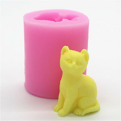 Animal Cat Candle DIY Making Silicone Mould Soap Fondant Pastry Chocolate Mold