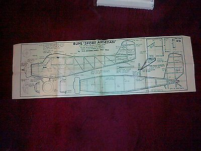 Buhl Sport Air Sedan Free Flight Vintage Scale Plan