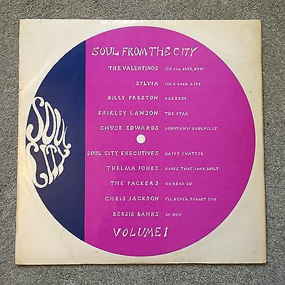 Soul From The City Vinyl Record LP Soul City SCB-1  1968