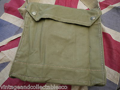 WWII MKVII Gas Mask Bag Never Issued Dead Stock New! Indiana Jones Bag