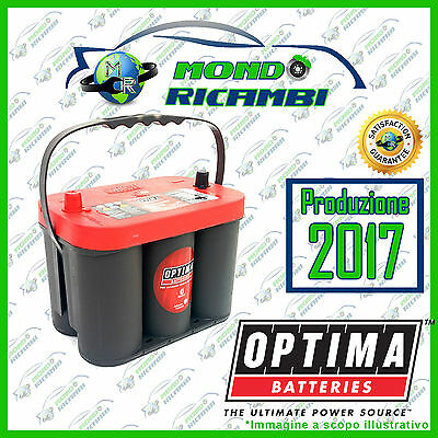 BATTERIA OPTIMA RED TOP ROSSA  RTC 4.2  50 Ampere - Spunto: 1000A