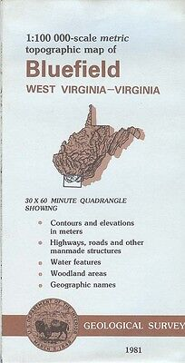 US Geological Survey topographic map metric BLUEFIELD West Virginia-VA 1981