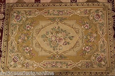 Large colourful hand stitch carpet Tapestry Antique rug table runner crewel work