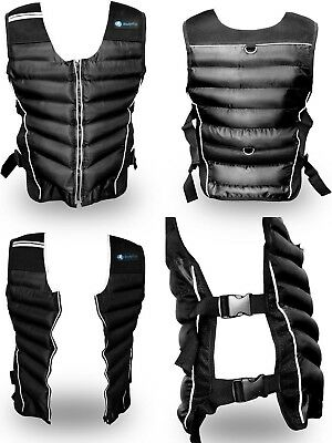BodyRip Weighted Vest 15kg Jacket Strength Training Running Weight Loss Gym Fit