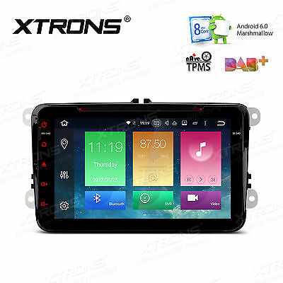 """Android 6.0 Octa-Core 64bit 8"""" Car Stereo GPS DVD Player DAB+ 4G For VW Superb"""