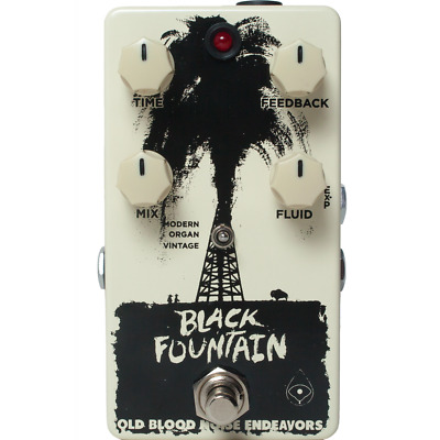 Old Blood Noise Endeavors Black Fountain Delay Pedal - Official Dealer