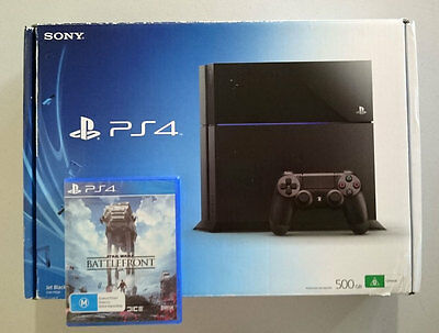 Sony PlayStation 4 PS4 500GB Black Console HDMI Star Wars Battlefront In Box