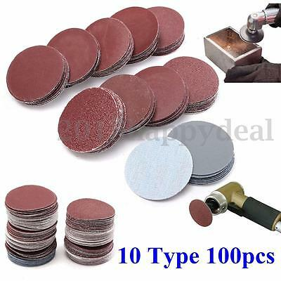 100Pcs 2'' 50mm Sanding Disc 80-3000 Mixed Grits Sander Polishing Pads Sandpaper
