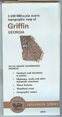 US Geological Survey topographic map metric GRIFFIN Georgia 1979