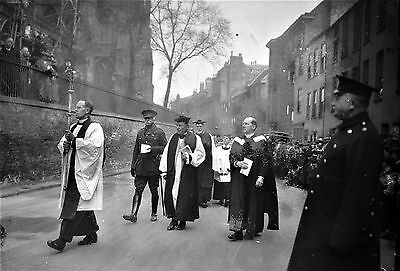 Photographic Glass Negative Opening Of War Memorial St Mary's  Nottingham 1922